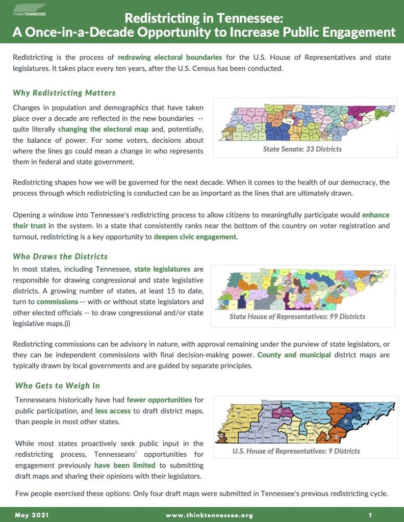 thinktn 2021 redistricting brief full image - Think Tennessee